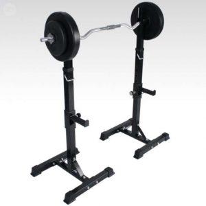 Peso del Usuario:110 kg, Peso Soporte para Barra: 110 kg, Banco: 110 x 24,5 cm Gymrex Banco De Musculaci/ón con Soporte para Barra De Pesas Y Dips GR-WB5